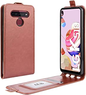حالات LG For LG K41S / K51S R64 Texture Single Vertical Flip Leather Protective Case with Card Slots & Photo Frame(Black) ...