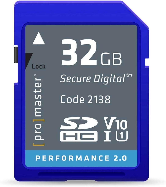 Promaster 32GB SDHC Class 10 Memory Card (Performance 2.0)