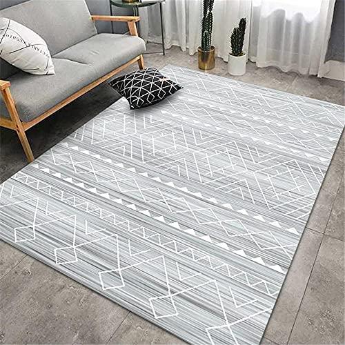 Dormitorios Matrimonio gris alfombra pie de cama Alfombra de cabecera de dormitorio de sala de estar de decoración de interiores suave y cómoda de estilo retro alfombra cocina lavable antideslizante 1