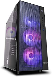 DeepCool Matrexx 55 Mesh Case ATX PC Gaming 0,6 mm SPCC con 4 Ventiladores 120 mm RGB Rainbow Addres