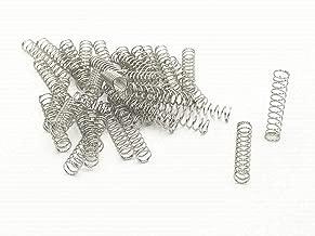 XJS Metal Compression Spring Silver Tone (0.5x5x25mm 100 Pcs)