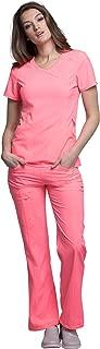 Infinity Women's Scrub Set - 2625A Mock Wrap Top & 1123A Low Rise Straight Leg Drawstring Pant