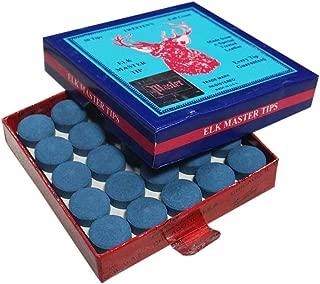 Elk Master 14mm Pool Billiard Cue Tips - Box of 50