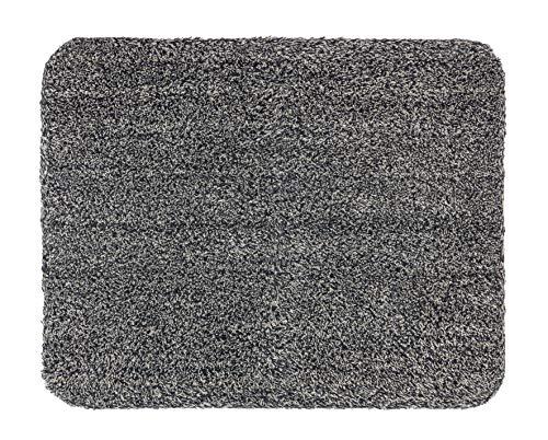 ASTRA waschbarer Fußabtreter Baumwolle – saugstarke Fußmatte Entra – rutschfeste Matte – (60 x 75 cm – anthrazit)