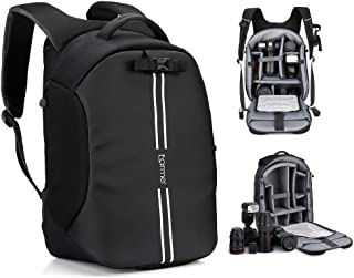 Earme Waterproof Shockproof Camera Backpack Bag Adjustable Padded for DSLR Camera, Lenses, Tripod and Other Accessory