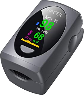 Pulse Oximeter Fingertip, Digital Blood Oxygen Saturation Monitor for Heart Rate Monitor and SpO2 Levels, Portable OLED Pulse Oximeter (Batteries Included)