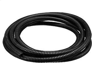 uxcell コルゲートチューブ 配線整理 外径10mm 電気配線用 ブラック 3メートル