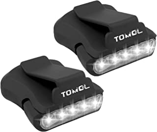 TOMOL Clip Headlamp 5LED Rotatable Cap Hat Light Ball Cap Visor light Pocket Clip Light for Reading Hunting Camping Fishing 2Pack