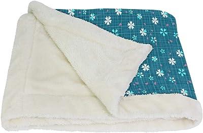 VAWA ブランケット 花柄 ひざ掛け かわいい 毛布 着る 厚手 大きい 大判 紐付き 寒さ対策 オフィス アウトドア用 チェック柄 和風 和柄