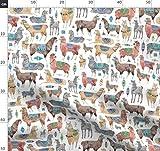 Lama, Alpaka, Aztekisch, Peru, Tier Stoffe - Individuell