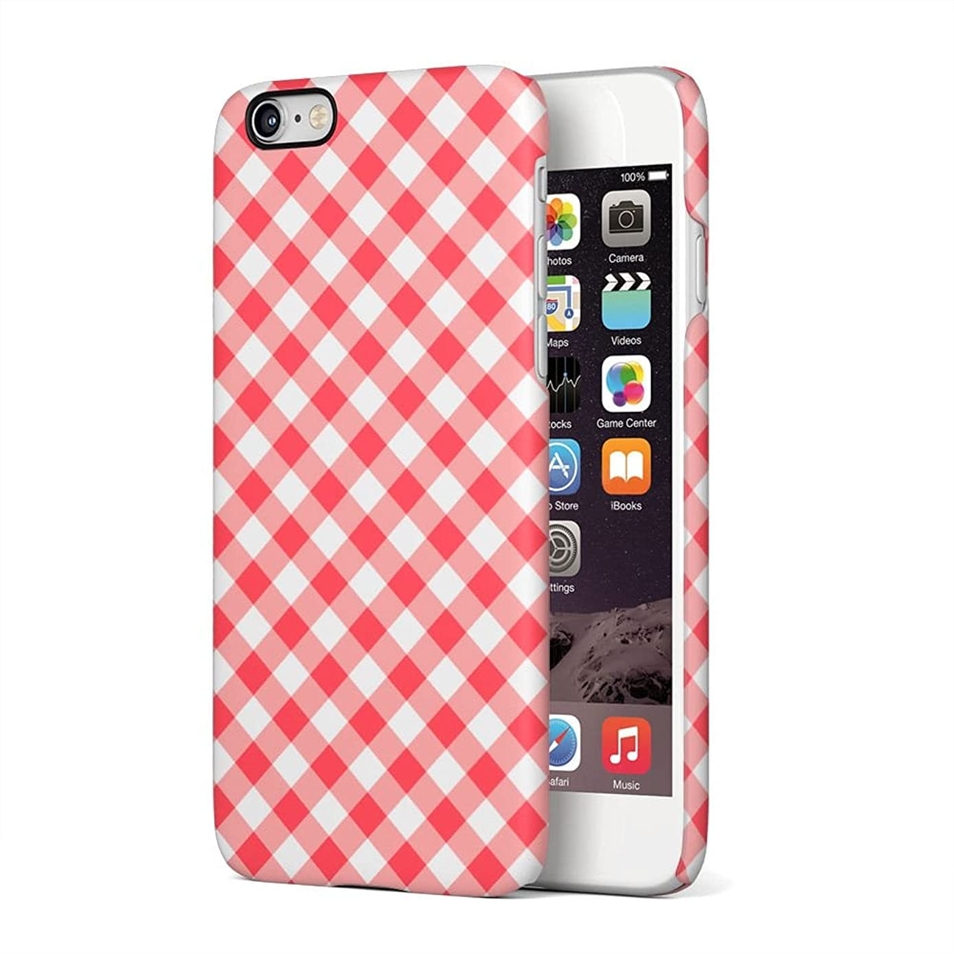 Red Vintage Checkered Tablecloth Pattern Apple iPhone 6 Plus, iPhone 6s Plus Plastic Phone Protective Case Cover