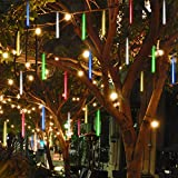 Solar Led String Light,outdoor 8 Tube,meteor Shower Rain Snow Falling Lights,garden Holiday Party Christmas Decoration Lights,outdoor Solar Lights