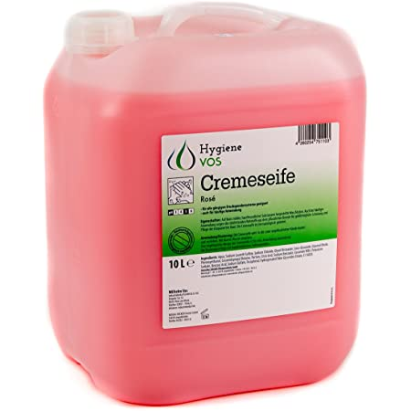 Hygiene VOS Jabón Líquido de Manos pH Neutro de Uso Diario. Fórmula Extra Suave y Biodegradable. Envase Económico de 10L, Adecuado para Todo Tipo de Dispensadores
