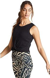 Rockwear Activewear Women's Serengeti Rib Twist Front Crop from Size 4-18 for Singlets Tops