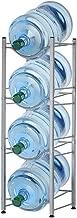 Water Bottle Holder Water Cooler Jug Rack 5 Gallon Jug Holder 4-Tier Water Bottle Storage Rack Water Shelf Water Bottle Rack Save Space for Home Office Organization, Sliver