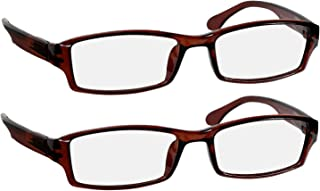 Reading Glasses 6.0 Brown (2 Pack) Best Readers for Men and Women - Stylish Look and Crystal Clear Vision When You Need It!Spring Arms & Dura-Tight Screws