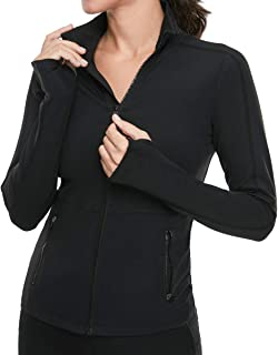 VUTRU Women's Workout Yoga Jacket Full Zip Running Track Jacket
