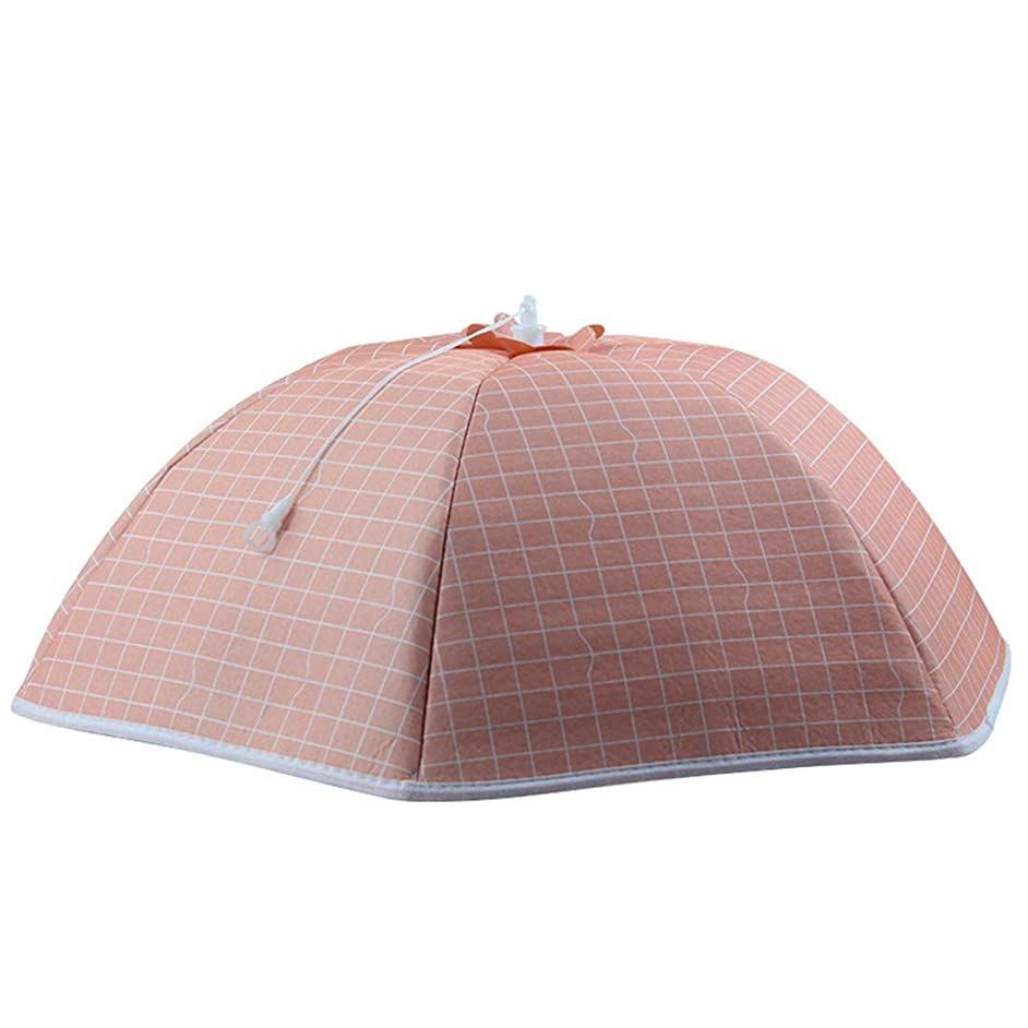 Bverionant Collapsible Food Cover Umbrella Shape Plate Serving Covers for Home Picnic Pink