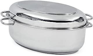 Norpro 649 Krona Stainless Steel 12-Quart Multi Roaster, Silver