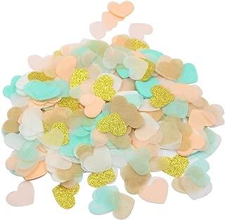 Mybbshower Peach Mint & Gold Tissue Paper Confetti 1