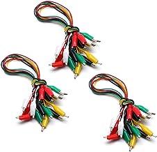LICTOP 30 件 5 色测试铅套装,带鳄鱼夹绝缘测试电缆双头电线夹(48.26 cm)