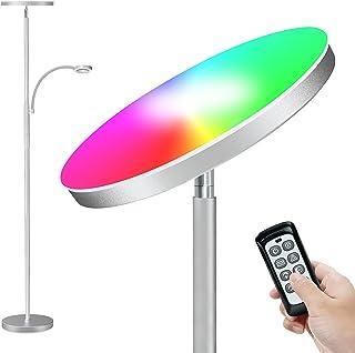 RGB Stehlampe LED Dimmbar 2000lm Deckenfluter mit 400lm Leselampe, Stehleuchte mit Fernbedienung&Touch Control, Standleuch...