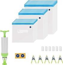 Inkbird Sous Vide Bags, 30 Reusable Vacuum Food Storage Bags, 3 Sizes Sous Vide Bag Kit with 1 Hand Pump, 5 Sous Vide Bag ...