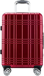 XLHJFDI Lightweight and Stylish Luggage,4 Wheels, ABS+PC,Carry On Suitcase,4 Silent 360° Wheels,TSA Lock Telescopic Handle,(20inch,24inch, 3 Color) (Color : Red, Size : 20 inches)