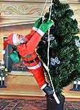 Hivchinge Christmas Climbing Santa Claus Climbing on Ladder Stepping Santa Hanging Indoor Outdoor Christmas Tree Hanging Santa Claus Decoration Christmas Ornament Home Party Decor