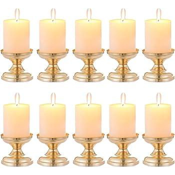 30 sets Kunststoff Kerzenständer Pillar Candle Base Taper Kerze Silber