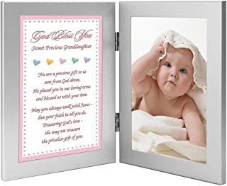 New Baby Girl or Granddaughter Baptism or Christening Gift - Add Photo