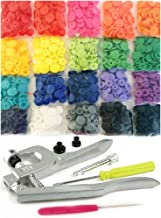 200 Commercial Quality KAMsnaps 20-Color Starter Pack: KAM Snaps Snap Press Pliers Plastic Snap-On Buttons Fasteners Installation Punch Poppers Attachment Setting Tool for Bibs Diapers