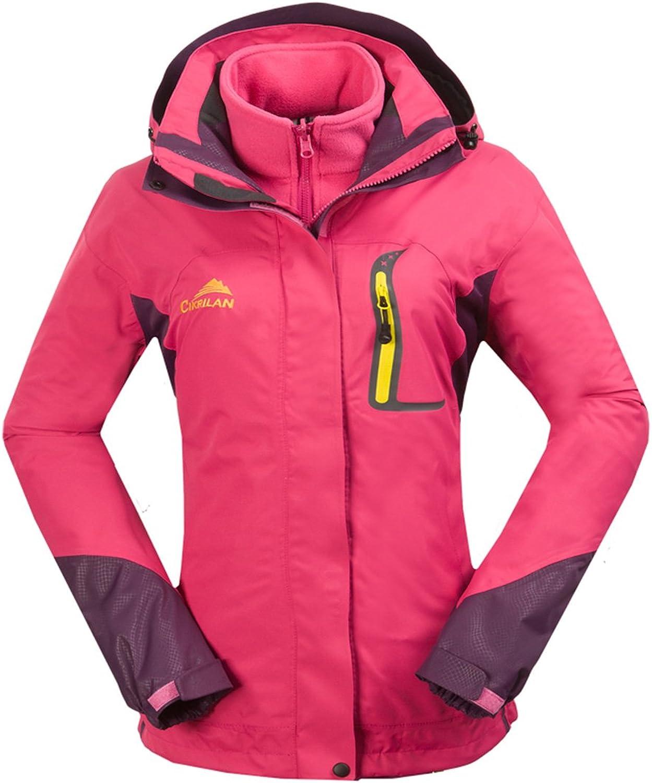 CIKRILAN Women's 3in1 Windproof Waterproof Outdoor Jacket Lady Sports Outerwear