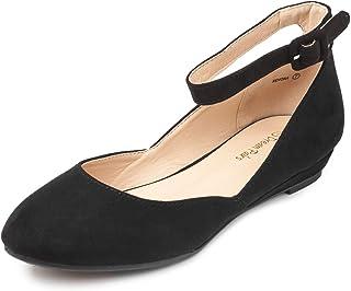 DREAM PAIRS کفش های تخت بند بند مچ پا Revona زنانه