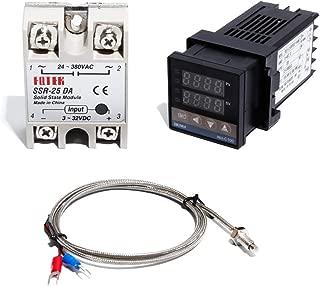REC-C100 Temperture Controller Thermostat 25DA and SSR 25DA Relay KThermocouple