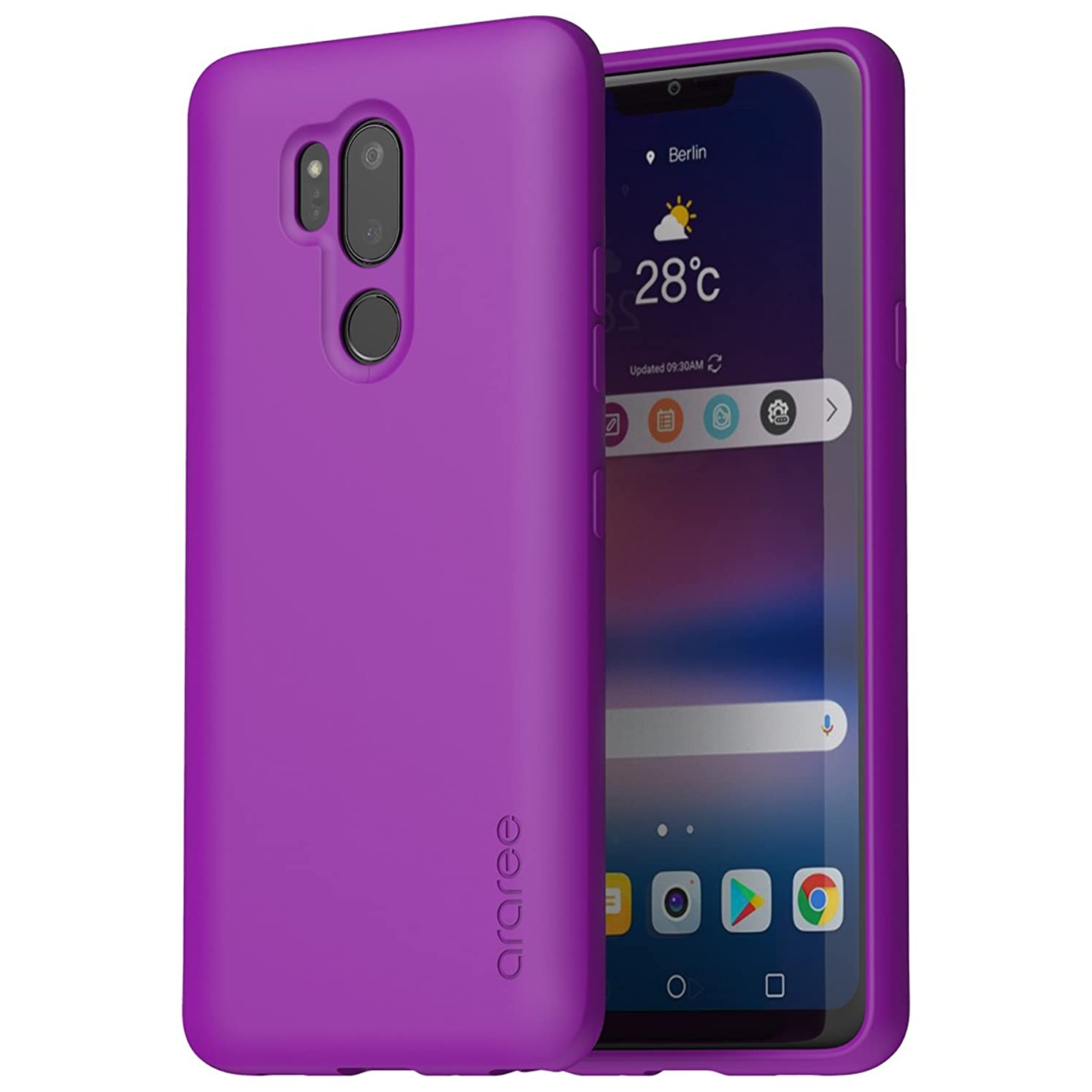 araree [G Cover] LG G7 ThinQ Case, Ultra Slim Soft Flexible TPU Scratch Resistant Shockproof case for LG G7 ThinQ (2018) - Purple