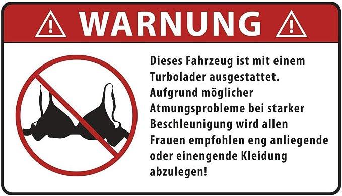 Aufkleber Warnung Turbolader Wetterfest Auto
