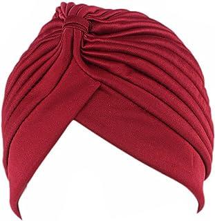 Surkat Femmes Pliss/é Twist Turban African Printing Inde Chemo Cap Hairwrap Headwear