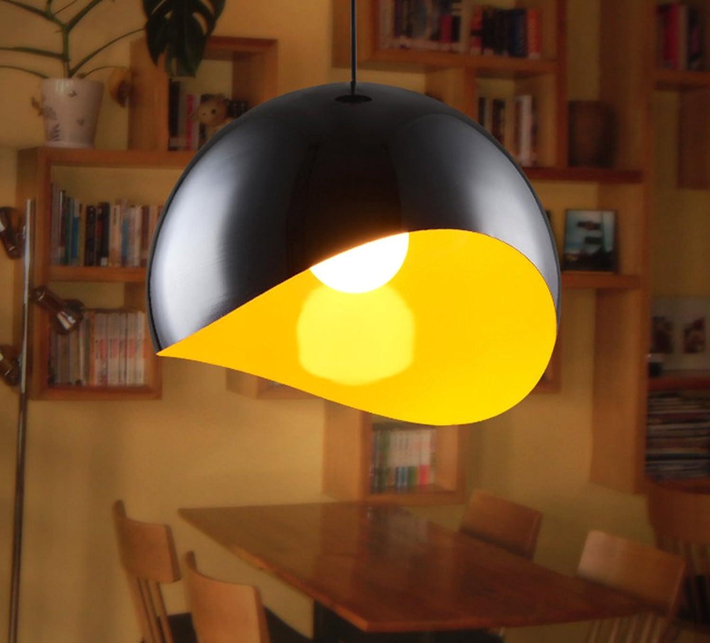 Rétro Minimaliste Classique Fer Lustre Créatif élégant Suspensions Luminaires Décoration de Maison Bar Cuisine salon Restaurants Café Couloir Club Luminaire suspendu E27 Ampoule (noir)