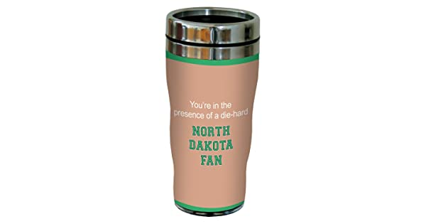 16-Ounce Tree-Free Greetings sg24515 North Dakota College Football Fan Sip N Go Stainless Steel Lined Travel Tumbler