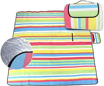 Pessica Im Freien tragbare Picknick-Matte Wasser-und feuchtigkeitsdierende Picknick-Matte Delicate Samt Regenbogen-Picknick-Matte Falten,200  200cm B07Q5LVP85 | Online-Exportgeschäft