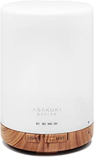 ASAKUKI 300ML Essential Oil Diffuser, Quiet 5-in-1 Premium Humidifier, Natural Home Fragrance Aroma Diffuser with 7 LED Co...