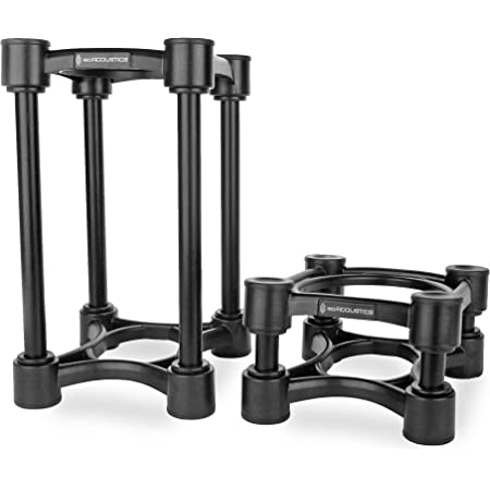 """IsoAcoustics Iso-Stand Series Speaker Isolation Stands with Height & Tilt Adjustment: Iso-130 (5.1"""" x 6"""") Pair"""