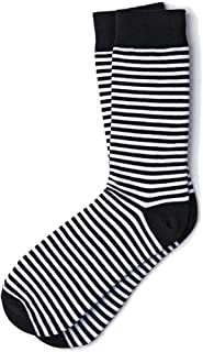 Men's Seal Beach Fashion Stripe Hipster Crew Dress Socks