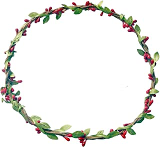 Kewl Fashion Women's Berry Rattan Flower Wreath Crown for Wedding Festivals