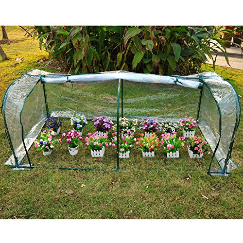 Light green 7'x3'x3' Greenhouse Mini Portable Gardening Flower Plants Yard Hot House Tunnel