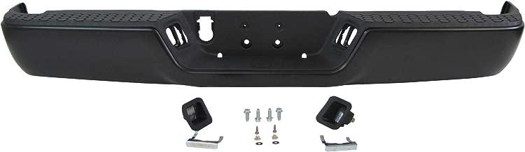 2009-2013 Dodge Pickup Ram 1500/2010-2013 Dodge Pickup Ram 2500 3500 Rear Bumper Powder Coating Black Assy (W/o Sensor Hole, W/o Dual Exhaust Cut-outs) CH1103120