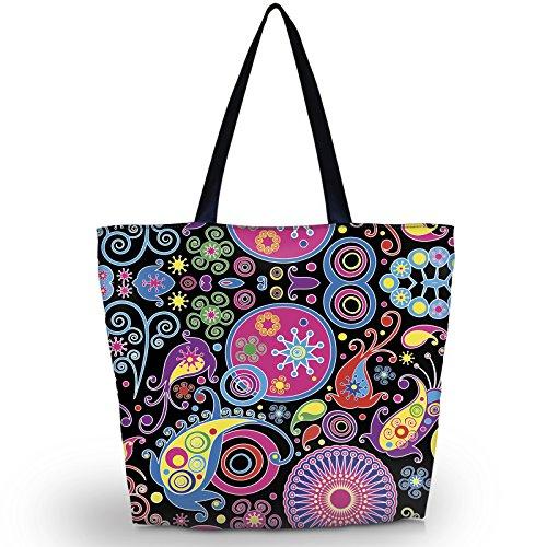 Bolsas de playa, para compras o viaje, con cremallera, para mujer, plegable, impermeable, ideal para llevar de noche