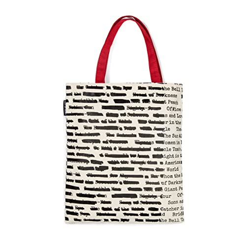 9e465ed9b886 Out of Print Literary and Book-Themed Canvas Tote Carrying Bag for Book  Lovers