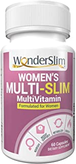 Multi-Slim Women's MultiVitamin   Vitamin for Women with Turmeric Curcumin & Black Cohosh, CapsiMax, Green Tea Extract, 60 Ct